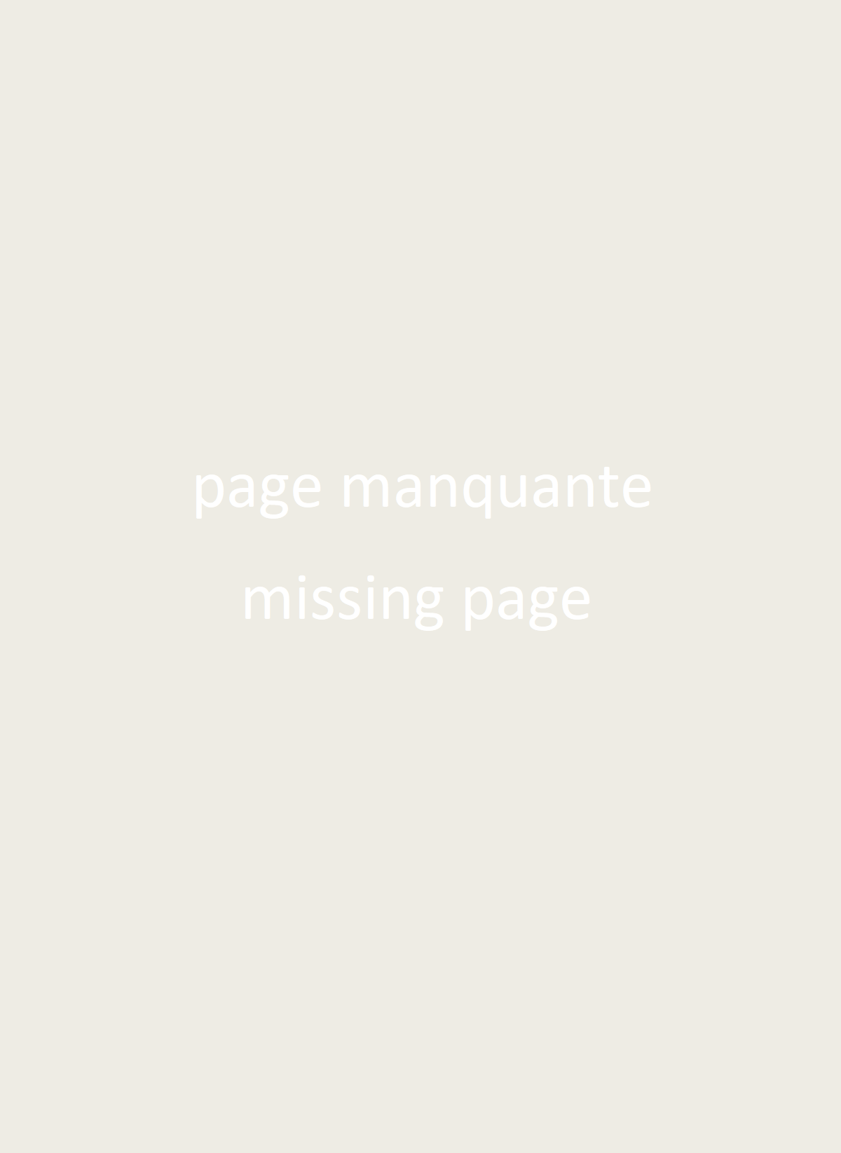 (Page manquante/missing page)